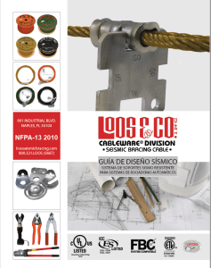 2010 NFPA Seismic Bracing Cable - Spanish