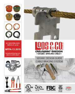 2019 NFPA Seismic Bracing Cable