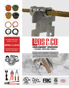 2019 NFPA Seismic Bracing Cable - Spanish